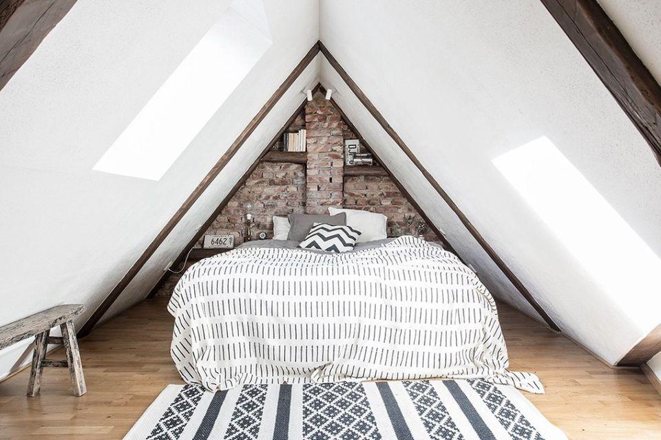Gothenburg apartment with attic Bedroom