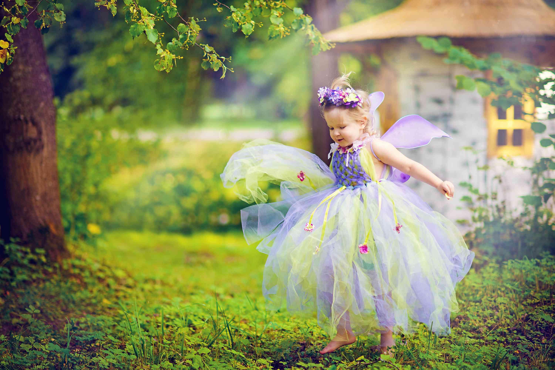 Little girl in summer