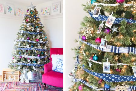 blue ribbon christmas tree - Different Ways To Decorate A Christmas Tree