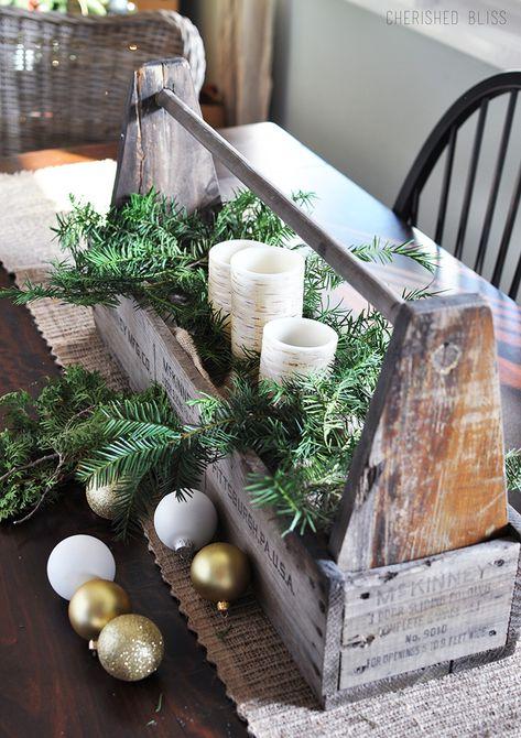 centro de mesa de invierno , centro de mesa de manzana