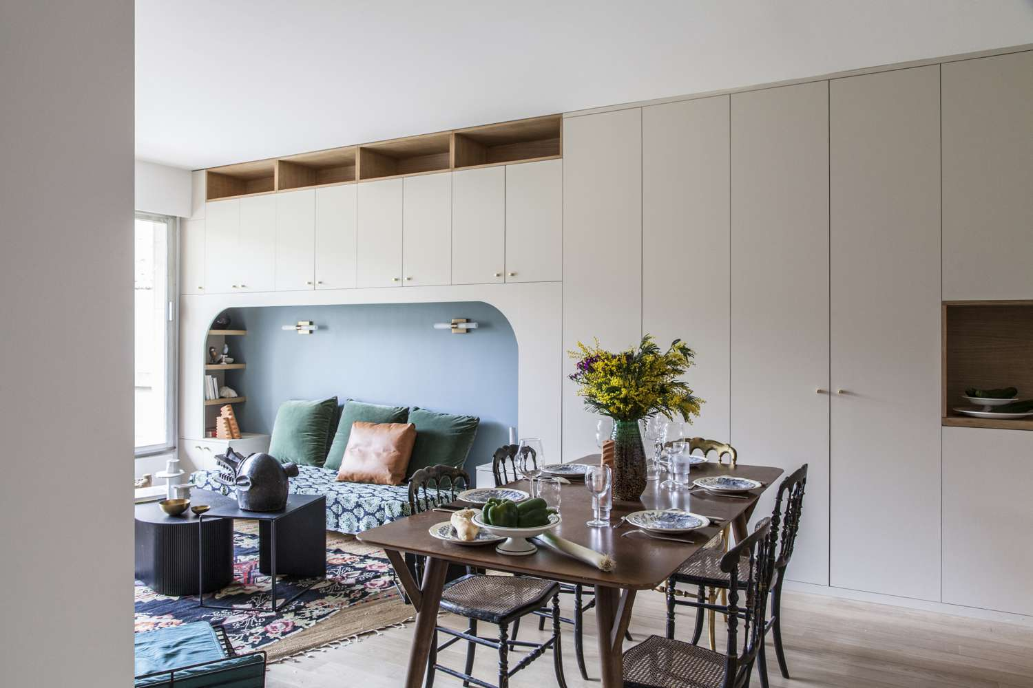 Living and dining room combo