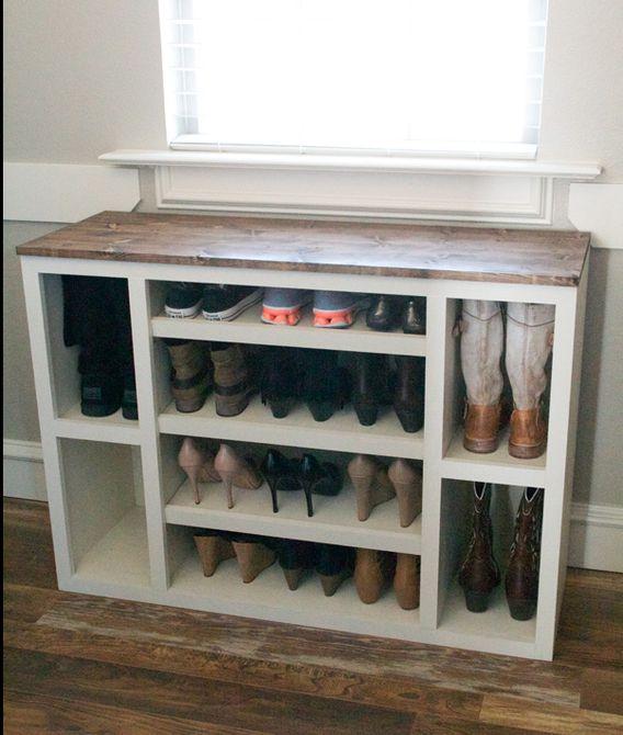 cubículo de zapatos de bricolaje