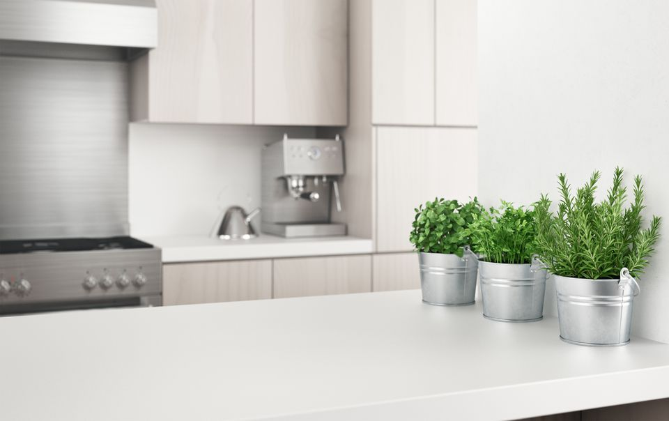 White Countertop in Kitchen