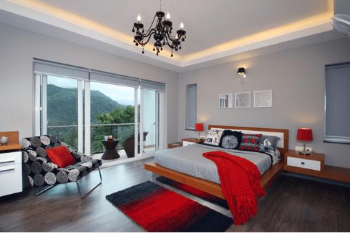 Master suite designed by Savio & Rupa Interior Concepts.