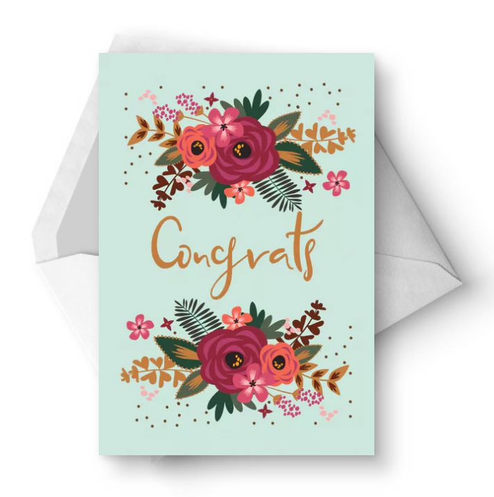10 free printable wedding cards that say congrats m4hsunfo