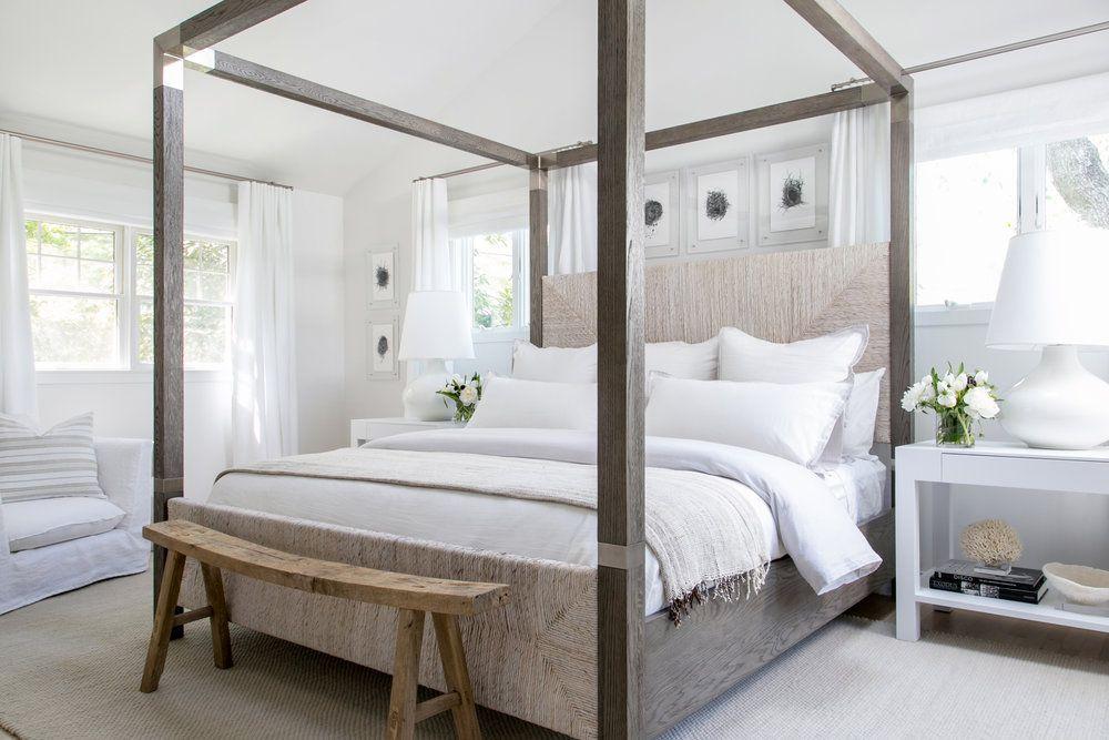 casa moderna con cama con dosel rústica
