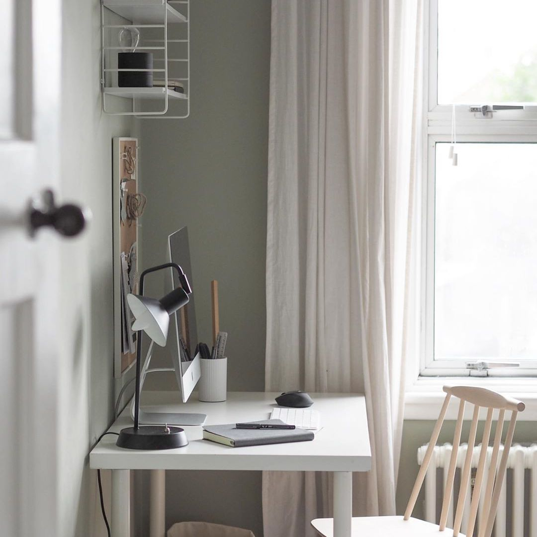 office space with neutral colors