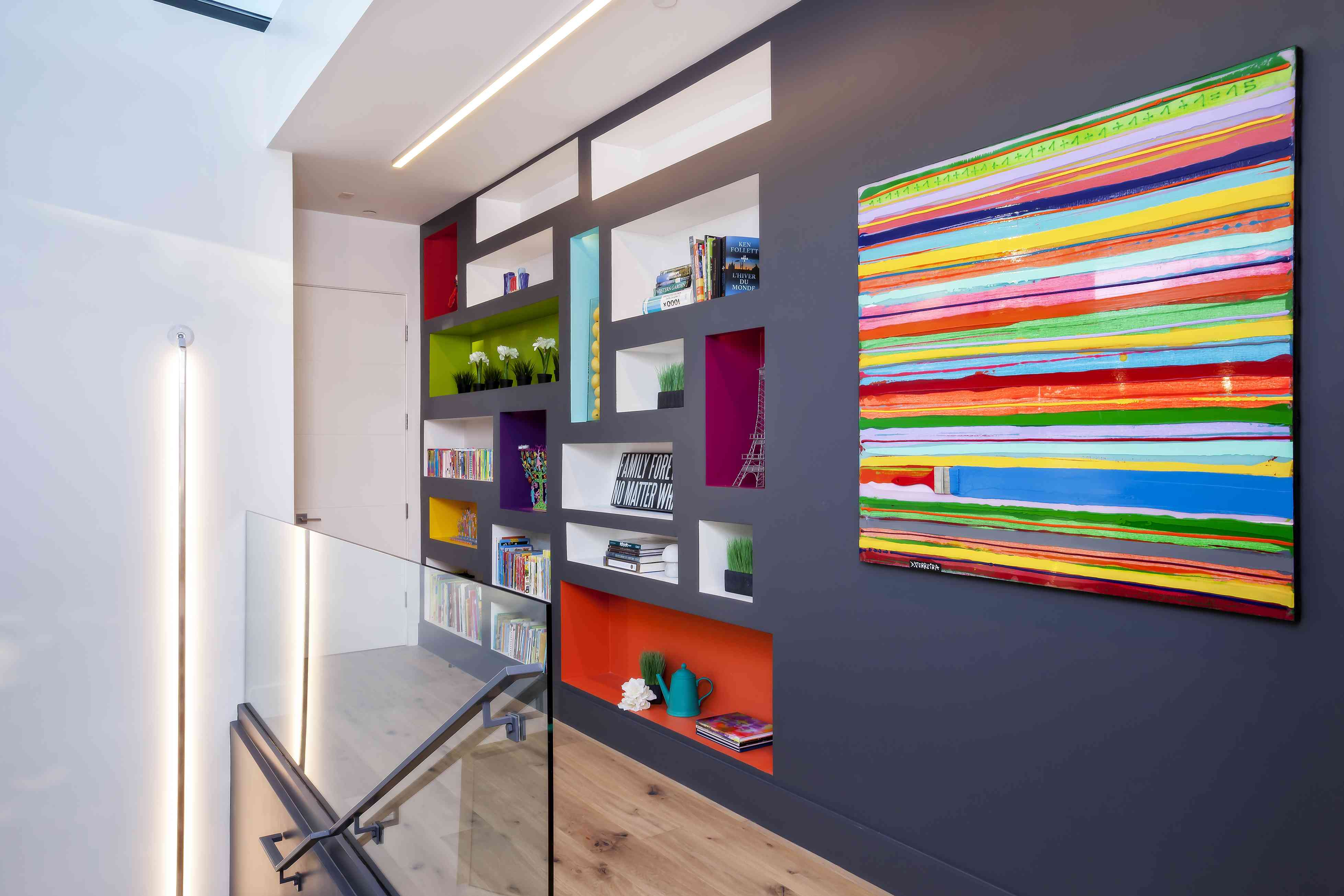 a colorful library