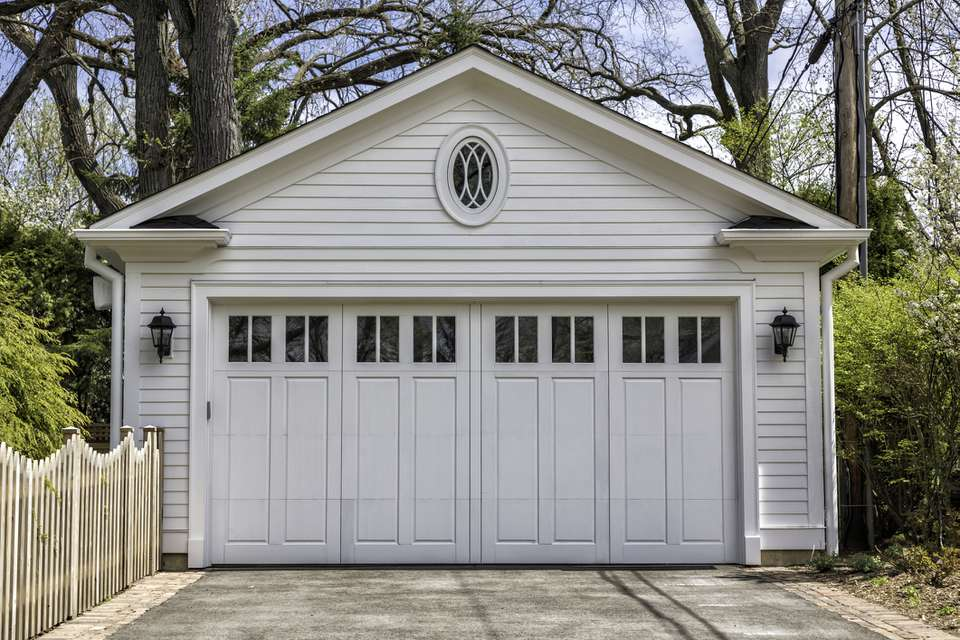 Two car wooden garage