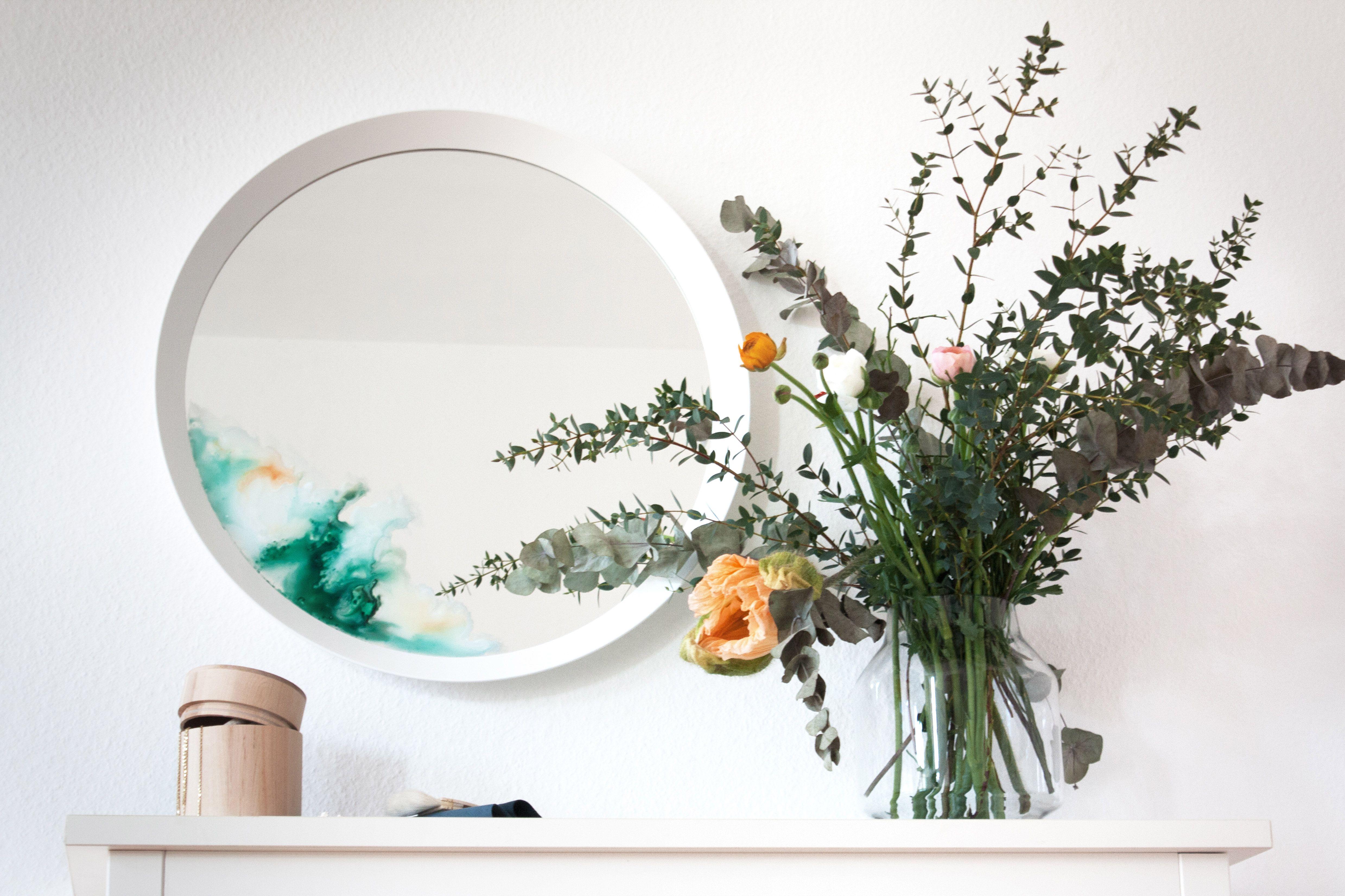 Ikea Water Color Mirror Hack