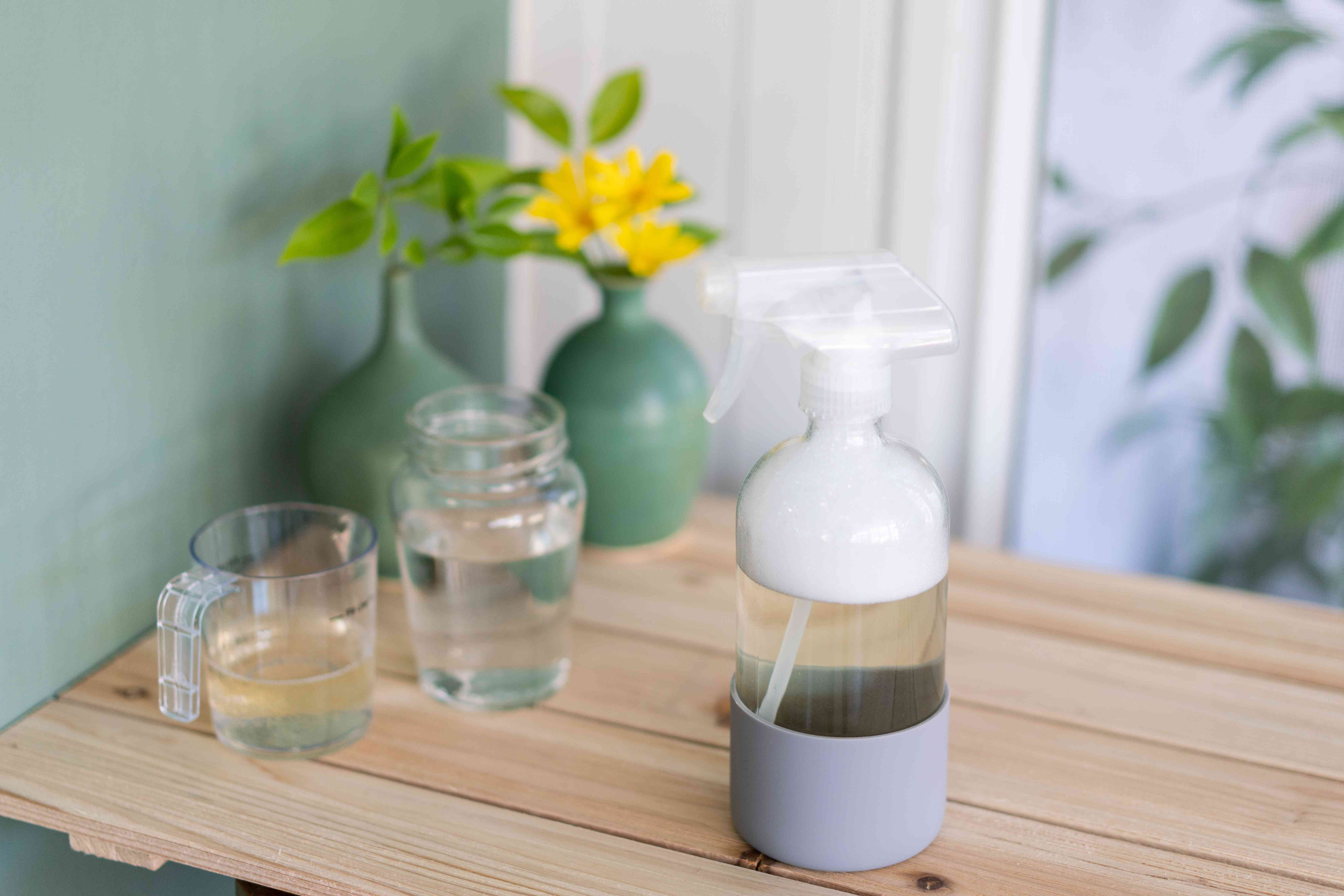 making a dish soap solution
