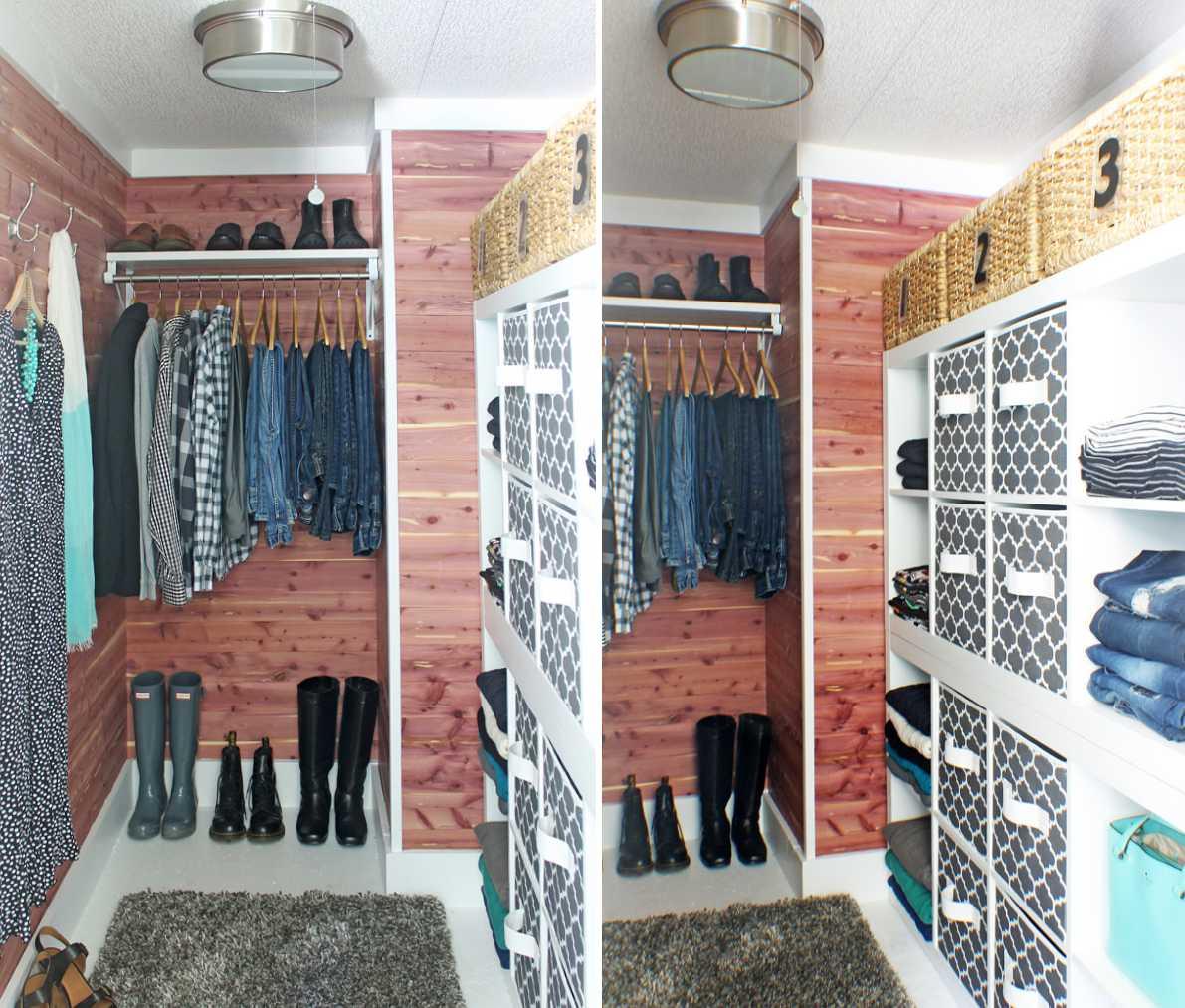 Cedar closet makeover