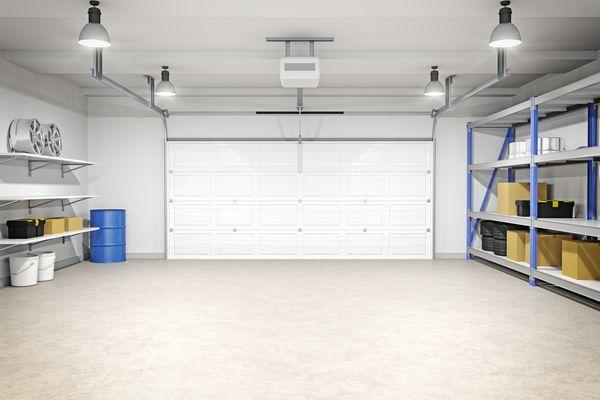 Inside of a garage