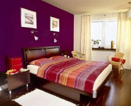 Red Purple Orange And Gold Bedroom