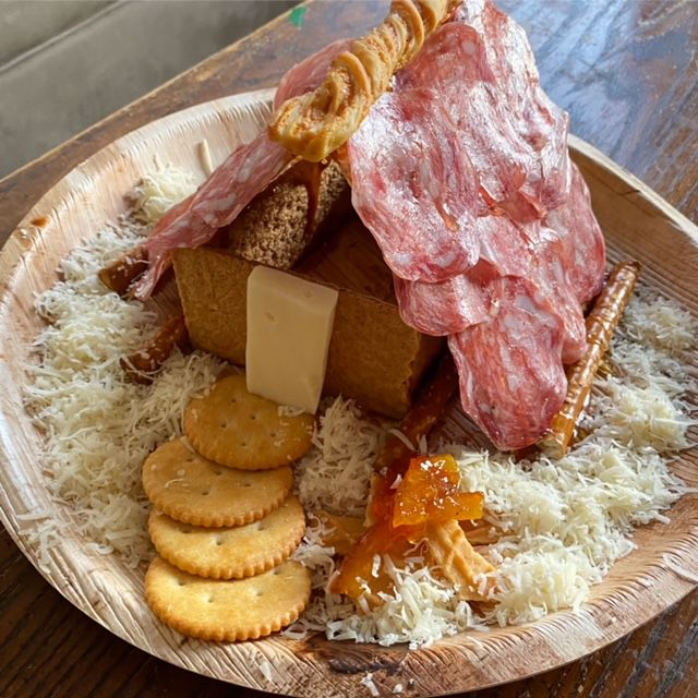 Cheese Dust Roasting by an Open Fire charcuterie chalet