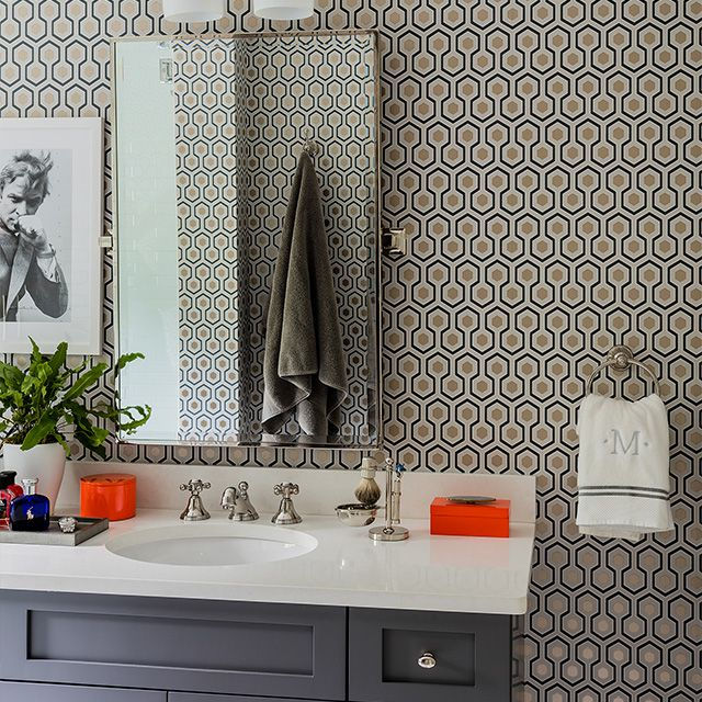 simple bathroom sconces in modern bathroom