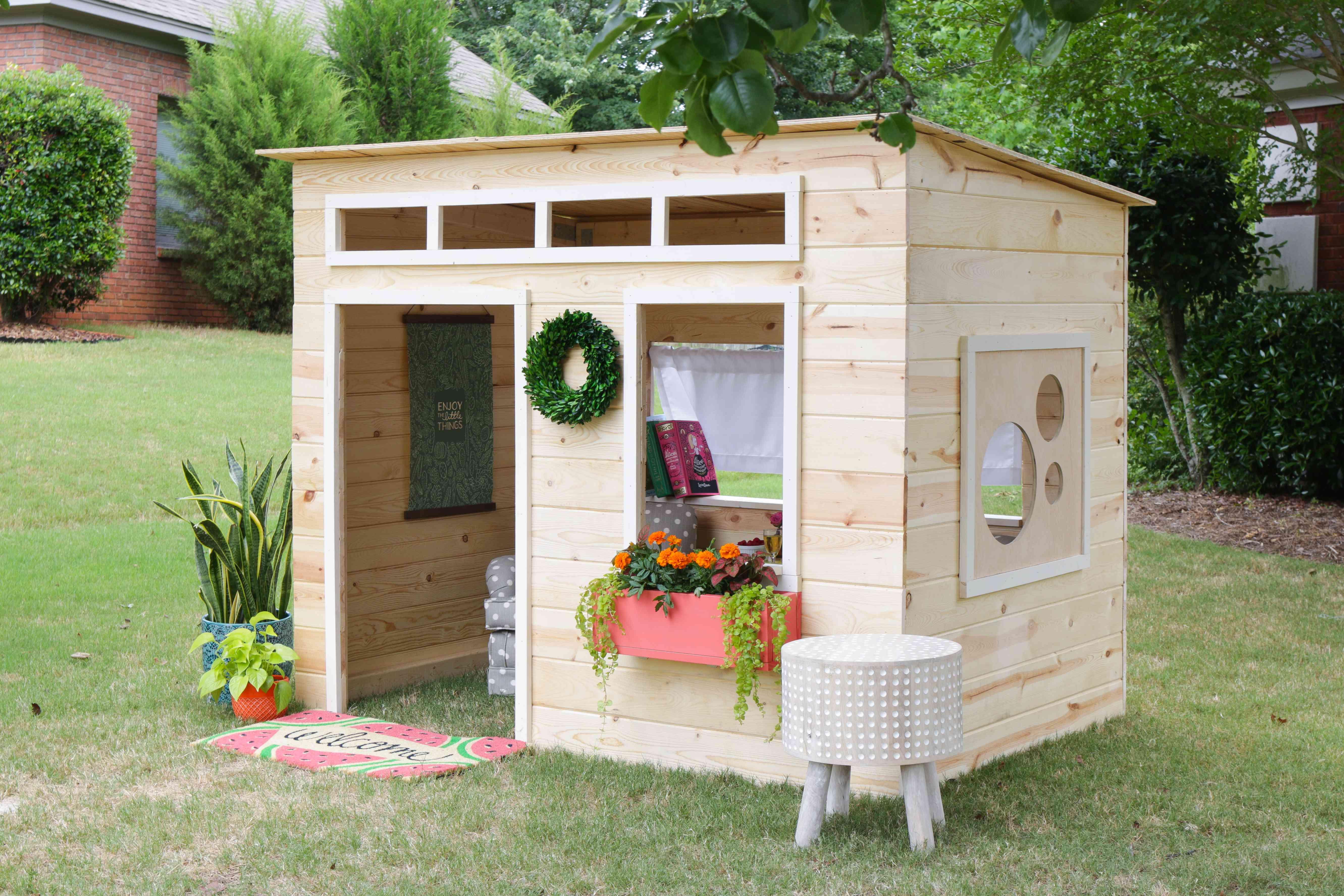 Jen Woodhouse's custom backyard playhouse