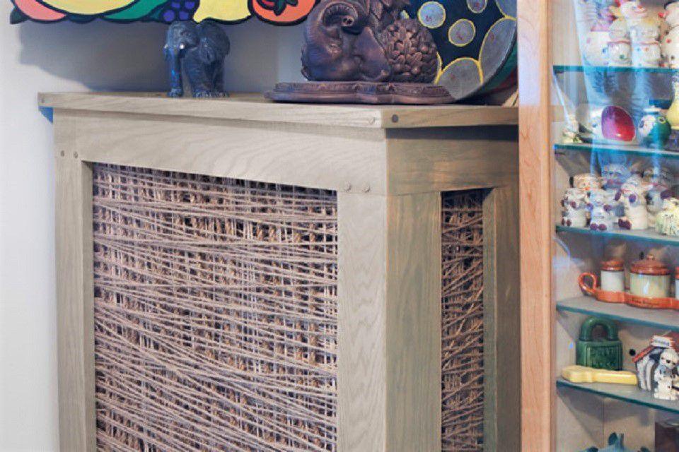 String Art DIY radiator cover