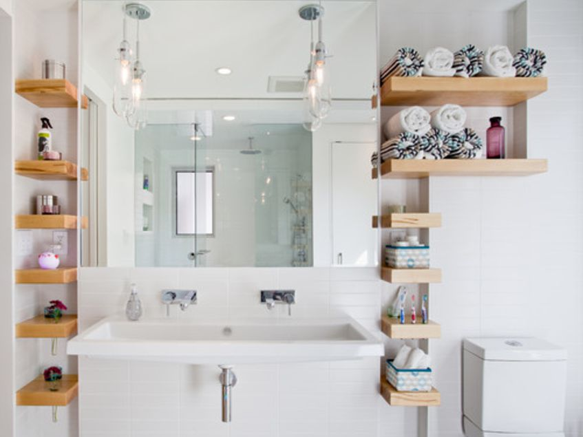 15 Bathroom Shelf Ideas For A More Organized Home