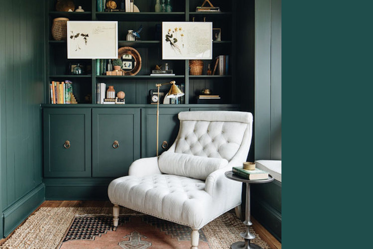 Interior painted a similar color to Hunt Club by Sherwin Williams