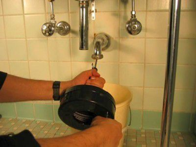 sink auger used directly into waste line