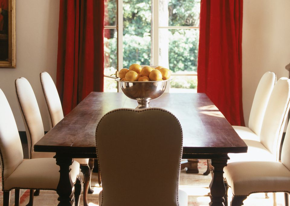 Dining room with feng shui smarts for house sale