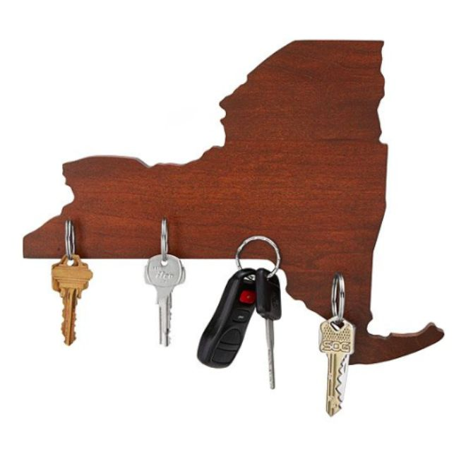 best for the homebody wooden states of america magnetic key holder - Unique Christmas Presents