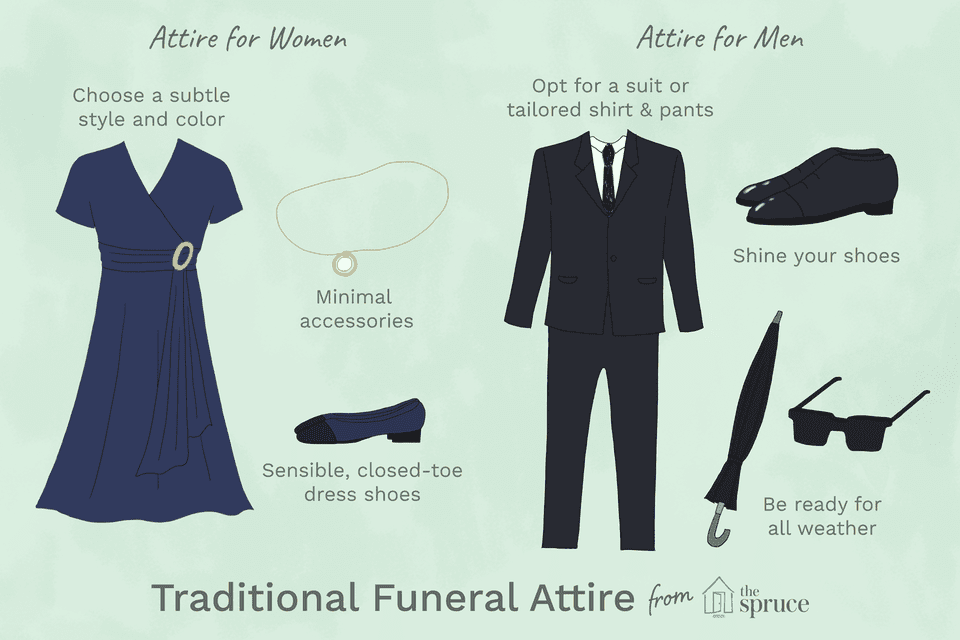 what is not appropriate funeral attire