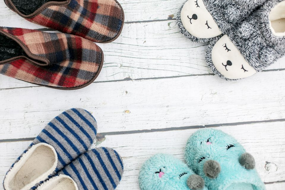 Four pairs of slippers