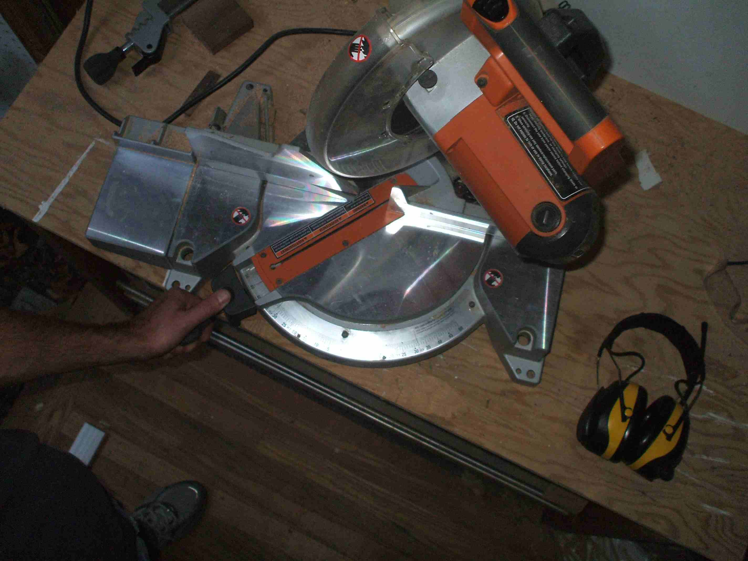 Set Saw Before Cutting Second Baseboard