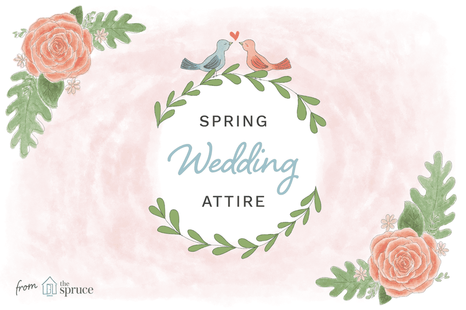 Ideas de vestimenta de boda de primavera