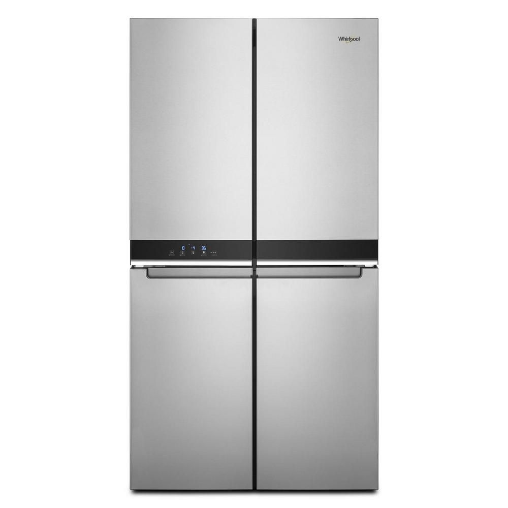 The Whirlpool WRQA59CNKZ 36 in. 19.4 cu. ft. 4-Door French Door Refrigerator can be customized in many ways to fit your household's needs.