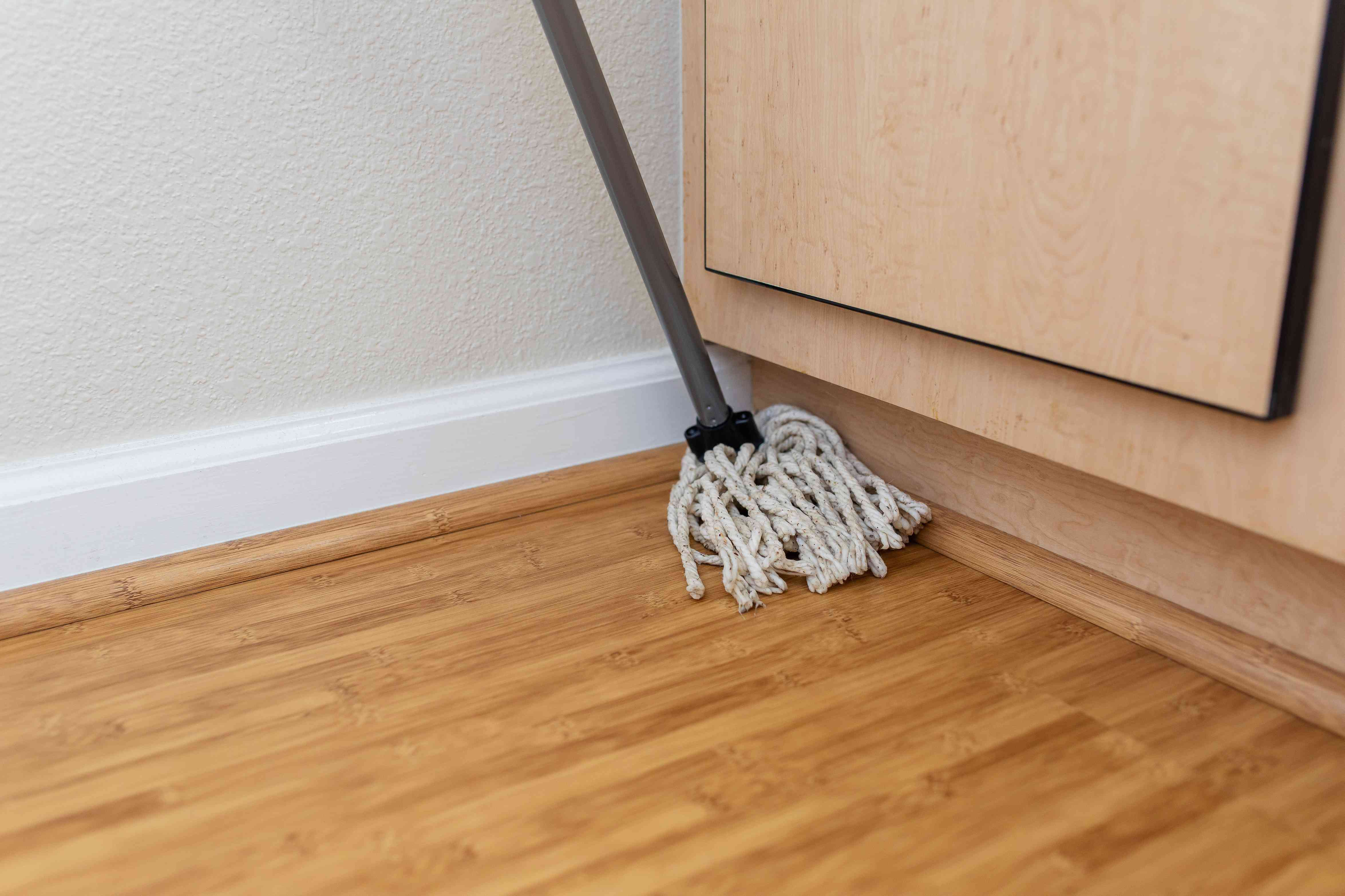 Beginning the mopping process