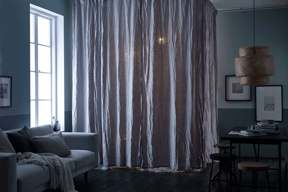 Inspirational Long Curtains to Divide A Room