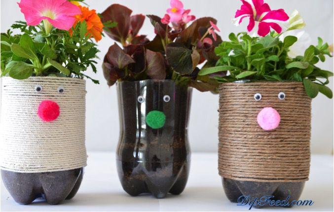 Flower hair planters