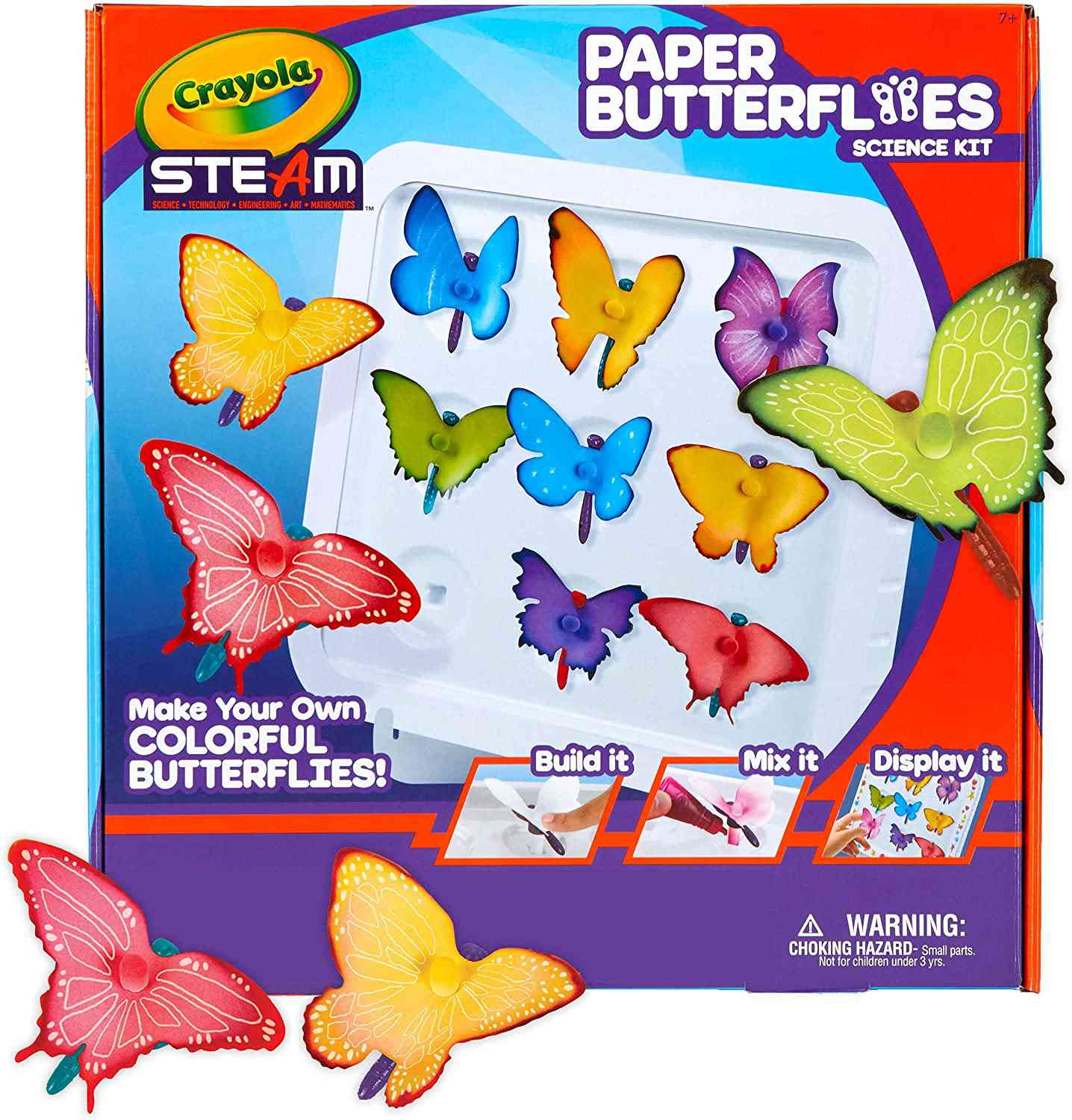 Crayola Paper Butterfly Science Kit, STEAM Toy