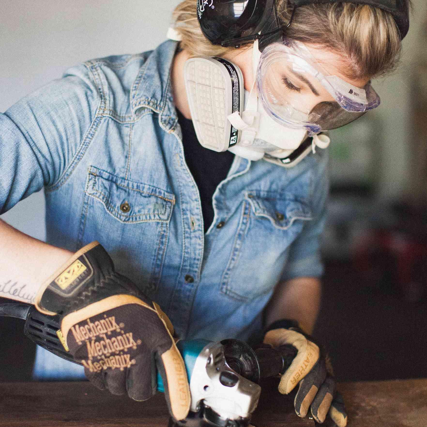 Karissa cross working with wood