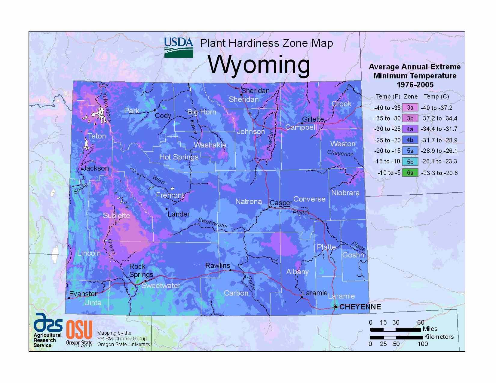 Photo of the Wyoming Hardiness Zones