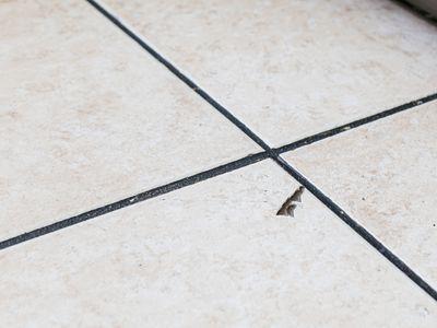chipped floor tile