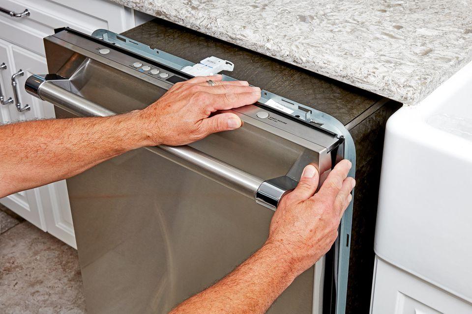 New dishwasher installed in kitchen