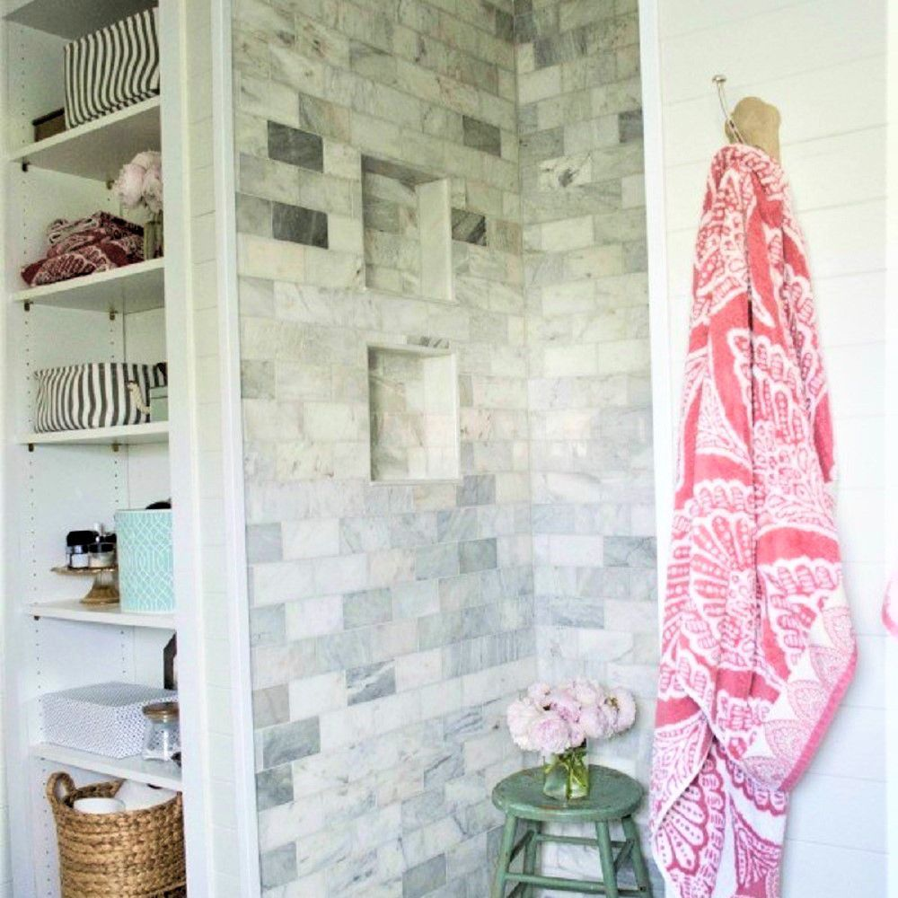 Elegant Gray Marble Subway Tile