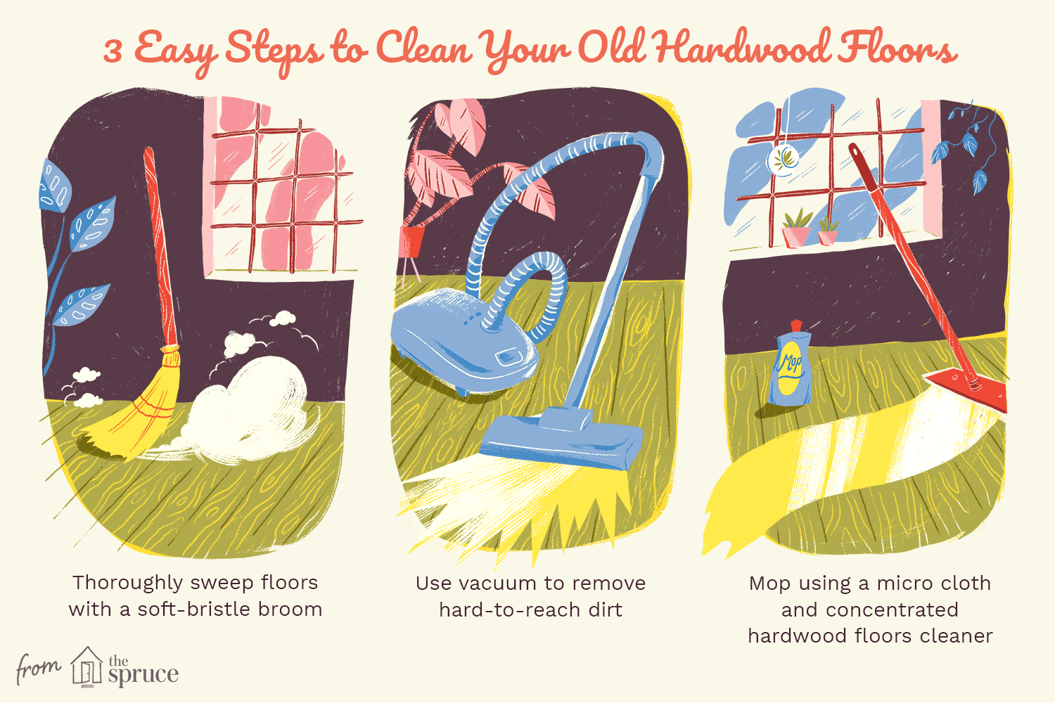 3 steps to clean your hardwood floors