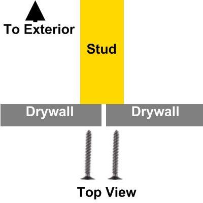 Drywall butt joint