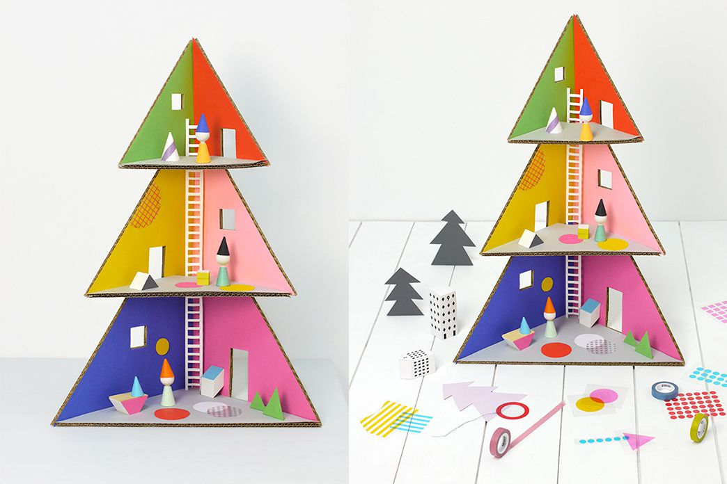 cardboard-kids-Christmas-tree