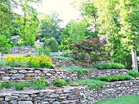 Stone Walls Are A Clic Way To Terrace Sloping Hillside