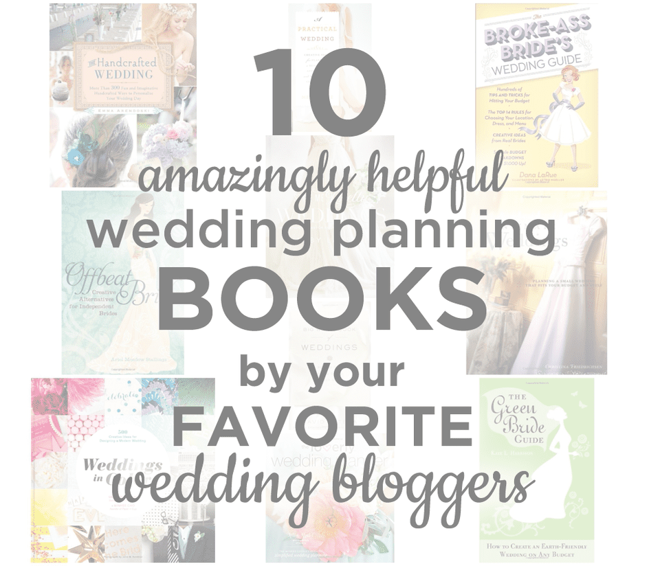 10 Amazingly Helpful Wedding Planning Books