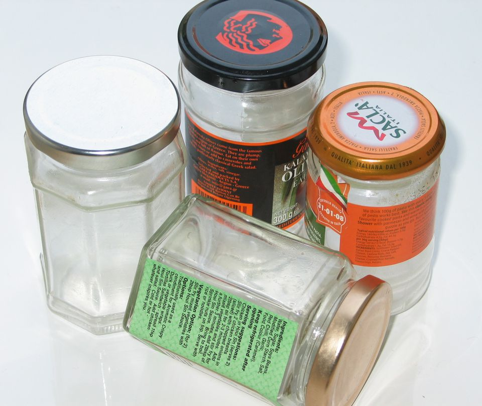 Empty small jars