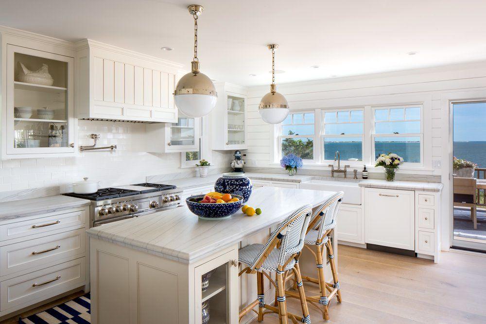 Coastal white kitchen