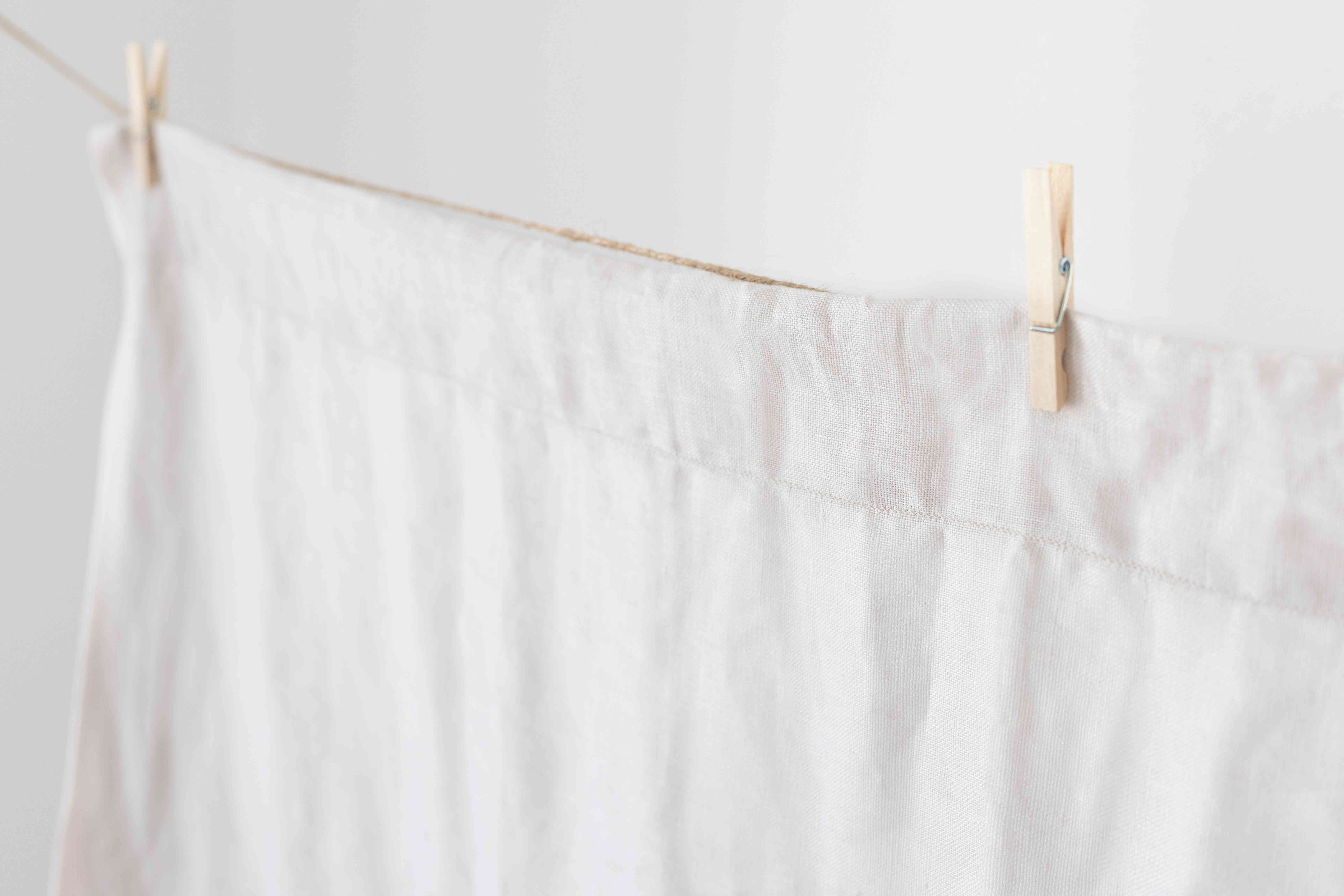 line-drying curtains