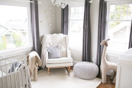 Neutral Grey Nursery With Rich And Varied Texture